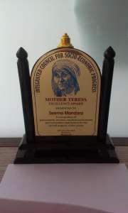 Awards - Mother Teresa Dec 2013