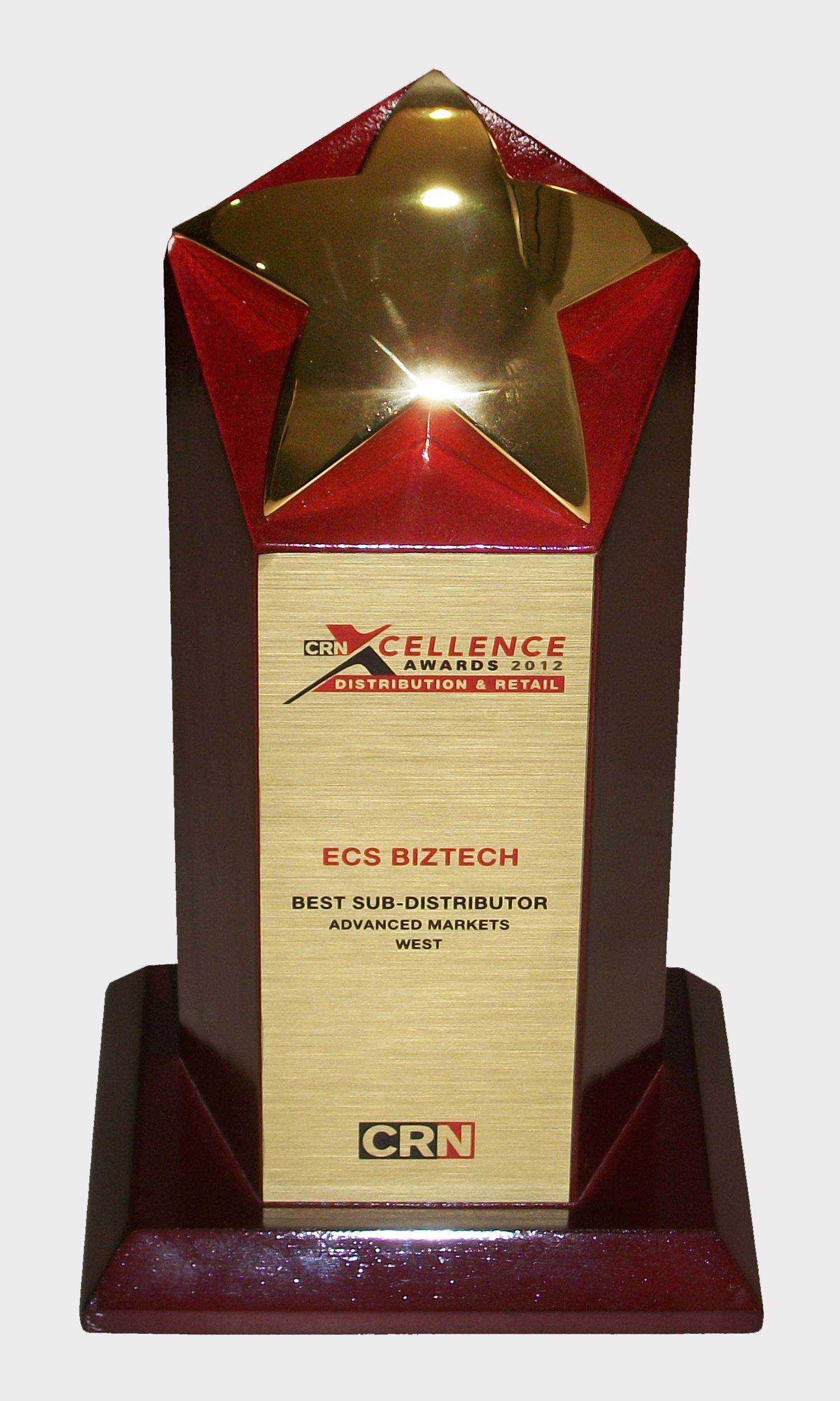 CRN Xcellence Awards 2012 - ECS Biztech