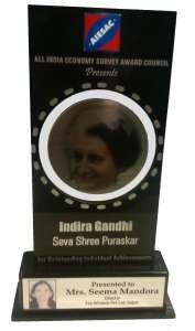 IGSP Award ---- Indira Gandhi Seva Shree Purshkar