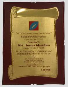 IGSP Certificate - Indira Gandhi Seva Shree Certificate