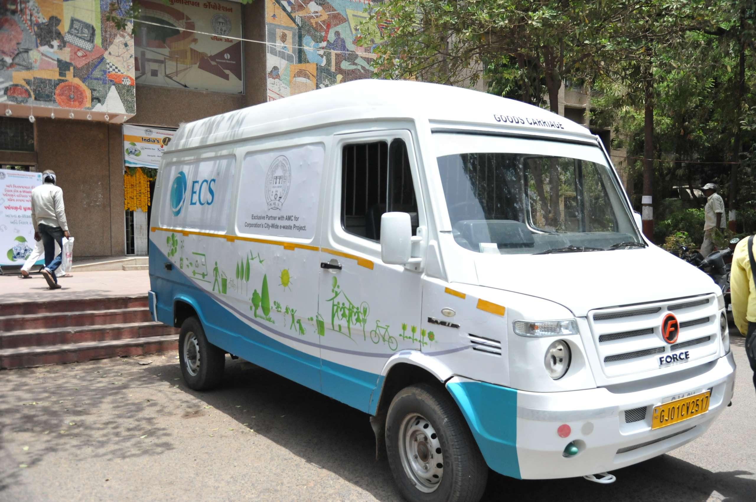 e-Waste pick up vehicle