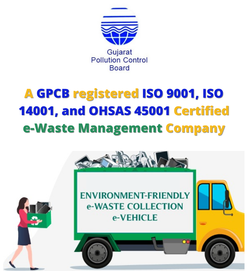 GPCB (Gujarat Pollution Control Board) registered ISO 9001, ISO 14001, and OHSAS 45001 Certified Company #ECS.